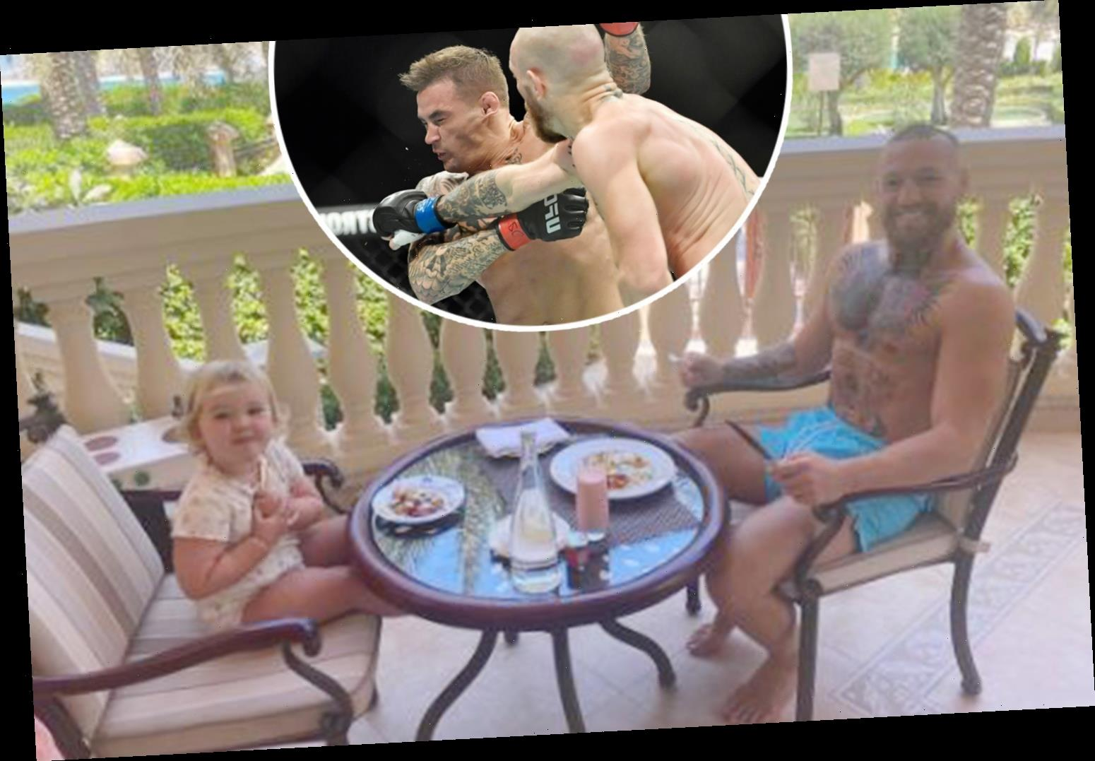 Conor McGregor shares adorable breakfast with young daughter as UFC star prepares to face Dustin Poirier in third fight