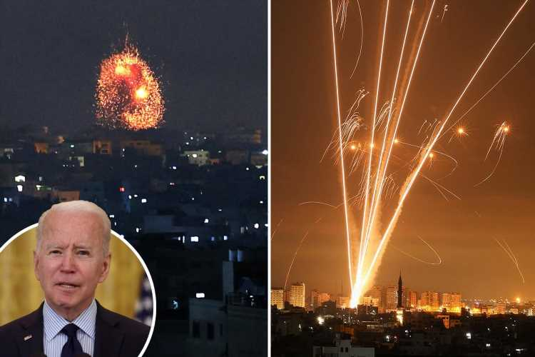 Biden says Israel's Gaza bombing blitz was NOT 'overreaction' as forces fire 450 missiles on Hamas in 40 minutes