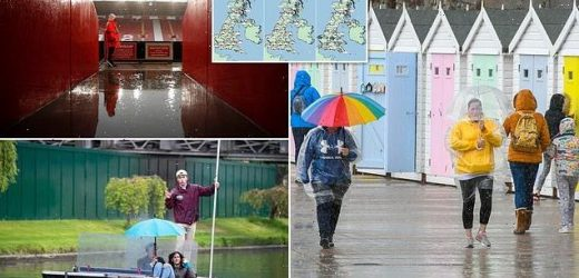 Britain is colder than FINLAND as nation braces for week of rain