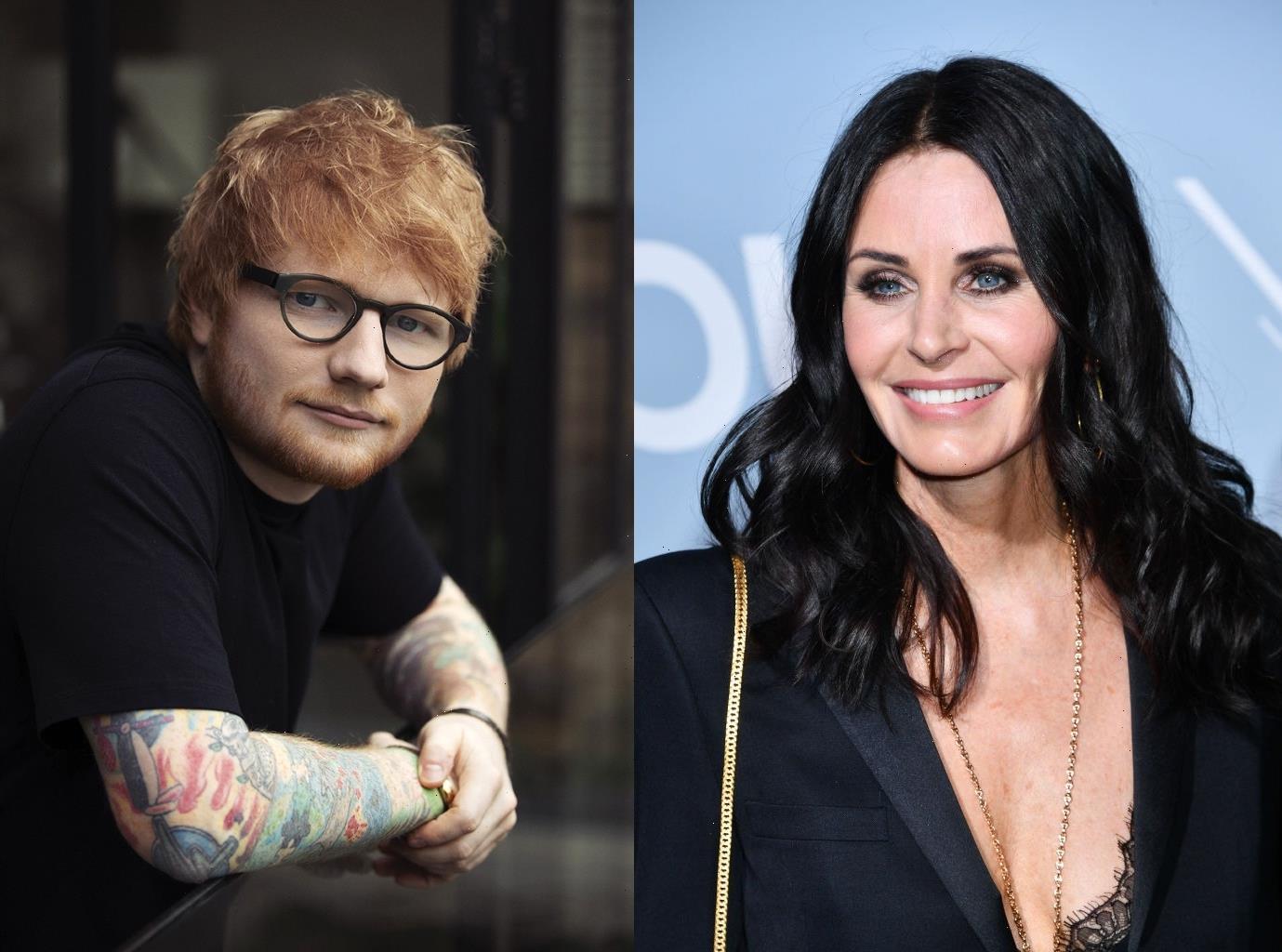 Courteney Cox, Ed Sheeran Recreate Ross and Monica's 'Friends' Routine