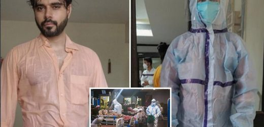 Exhausted Indian Covid doctor shares sweat-drenched photo as wards hit breaking point with 400k cases & 4k deaths a day