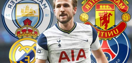 Five potential clubs for Harry Kane including Man Utd, City and Chelsea as striker tells Tottenham he wants transfer