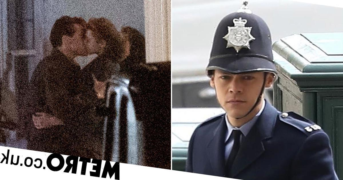 Harry Styles passionately kisses Emma Corrin in intense My Policeman shoot