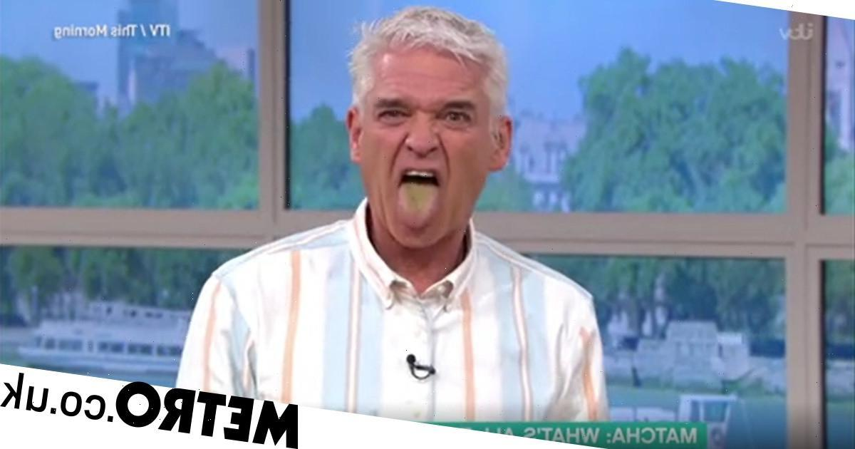 Horrified Phillip Schofield has priceless reaction after trying matcha tea