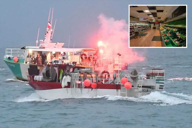 Jersey supermarkets will be EMPTY in just two days unless Royal Navy breaks French trawler blockade, bosses warn