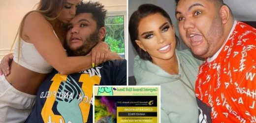 Katie Price celebrates as son Harvey is nominated for Celebrity of the Year for his charity work