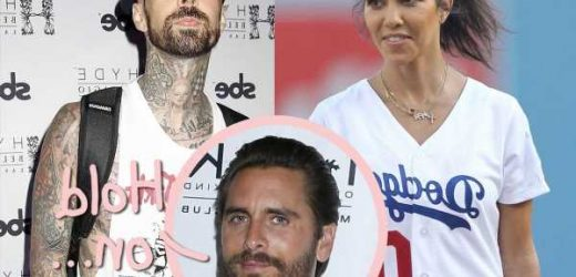 Kourtney Kardashian & Scott Disick Are 'Barely Speaking' – But Is He Holding Up Her Engagement To Travis Barker?!