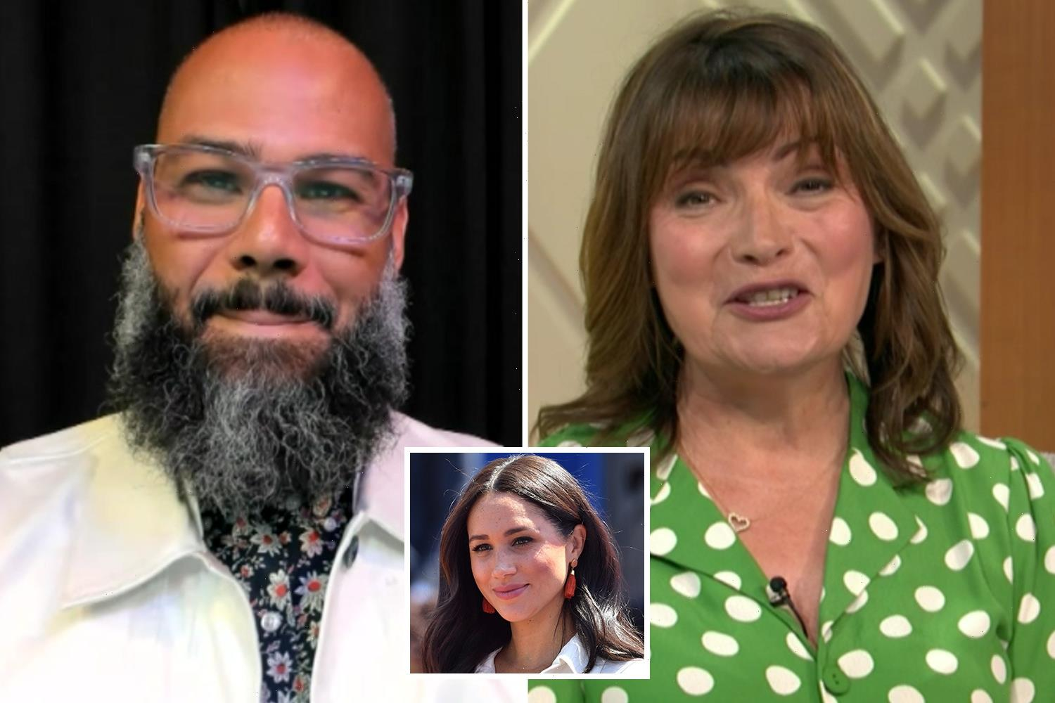 Meghan Markle's first boyfriend is cut off TWICE in live TV blunder as Lorraine apologises for technical issues