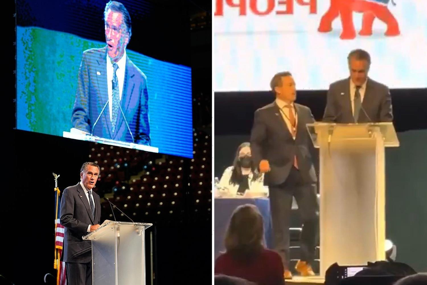 Romney hits back saying 'aren't you embarrassed?' after Utah GOP delegates boo him & call him 'traitor & 'communist'