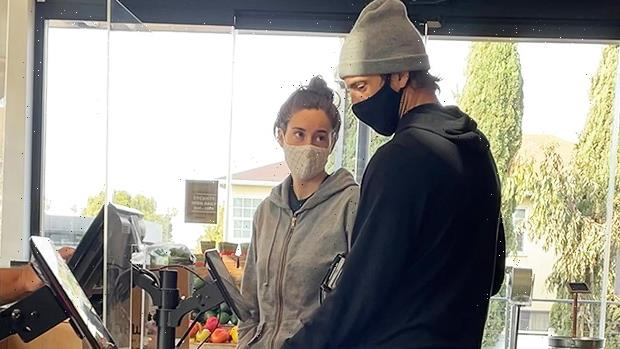 Shailene Woodley & Aaron Rodgers Dress Down In Sweats For Casual Grocery Store Trip — Pics