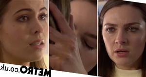 Sienna snogs evil Summer in shock steamy scenes in Hollyoaks