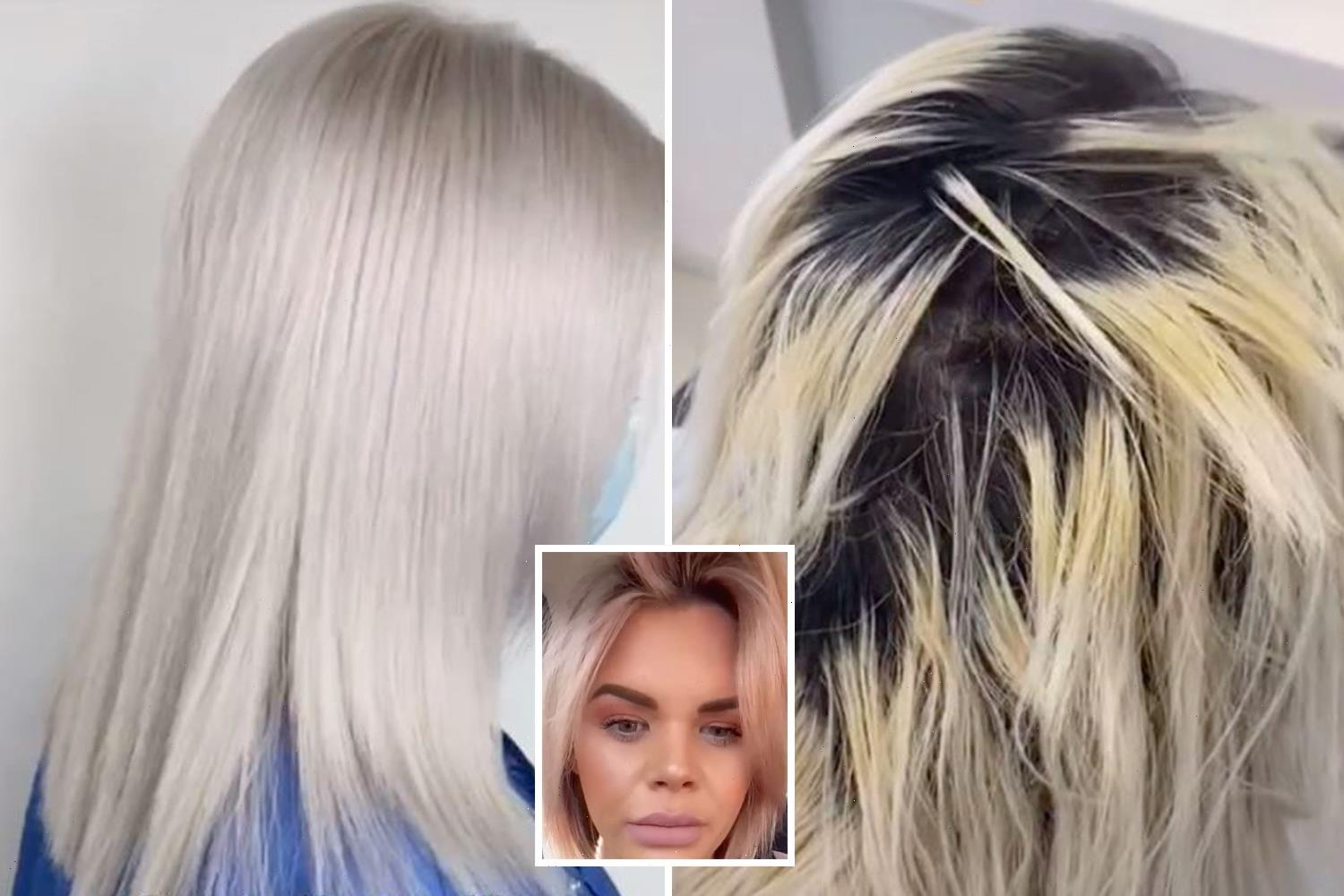 Stylist rescues woman's hair after horror bleach job left it SNAPPING OFF & the before-and-after speaks for itself