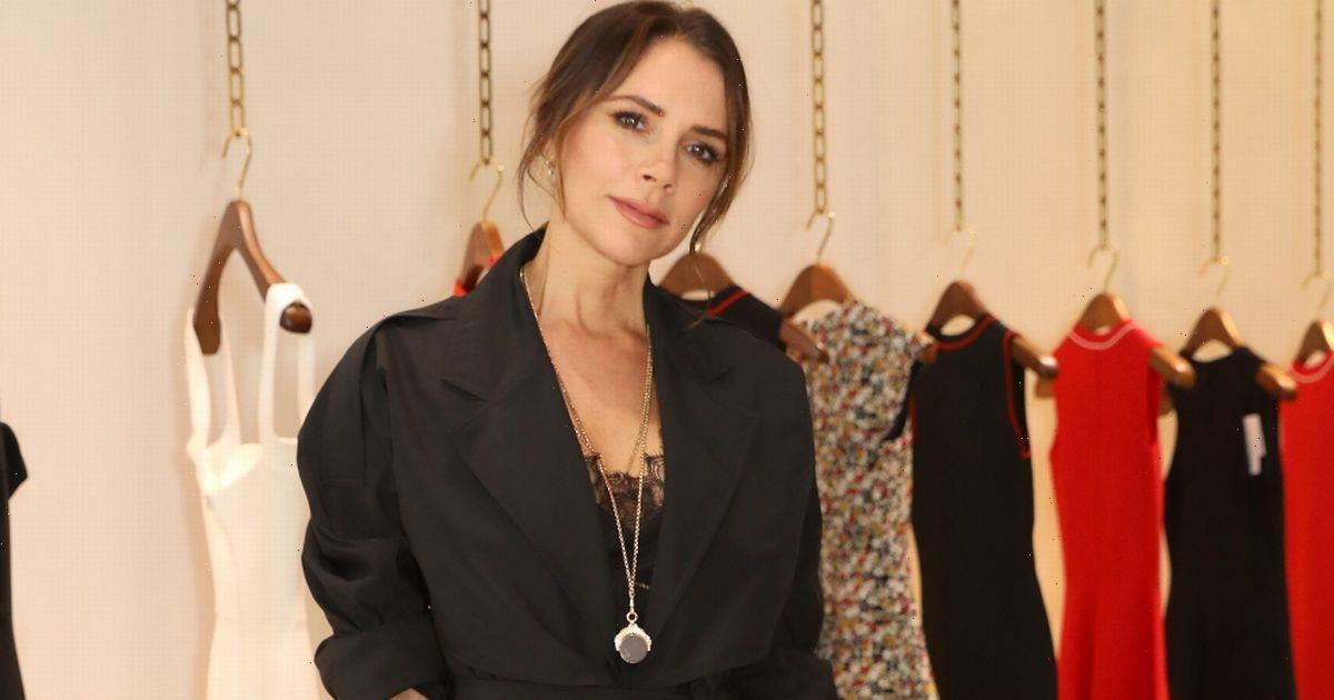 Victoria Beckham is flogging her £1,700 designer dresses from the back of a van