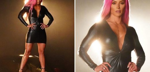 WWE star Eva Marie stuns in sexy leather outfit as she returns to RAW four years after quitting Vince McMahaon's company
