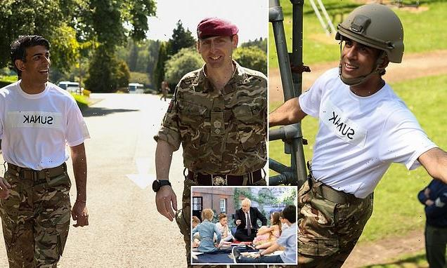 Action man Rishi! Publicity-hungry Chancellor dons army fatigues