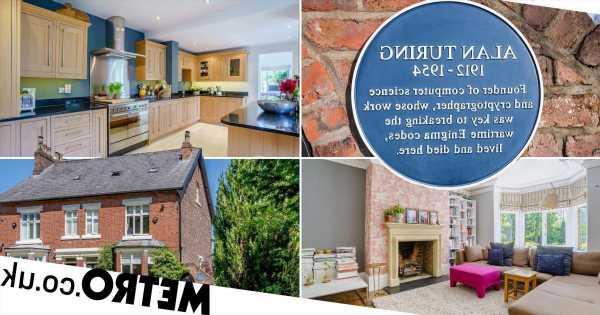 Alan Turing's former home – complete with blue plaque – has gone on sale