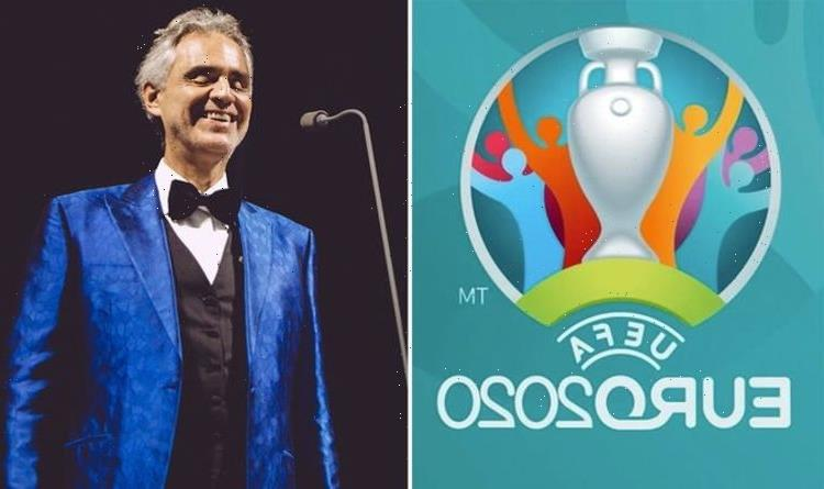 Andrea Bocelli announces Euro 2020 opening ceremony performance in Rome on Friday