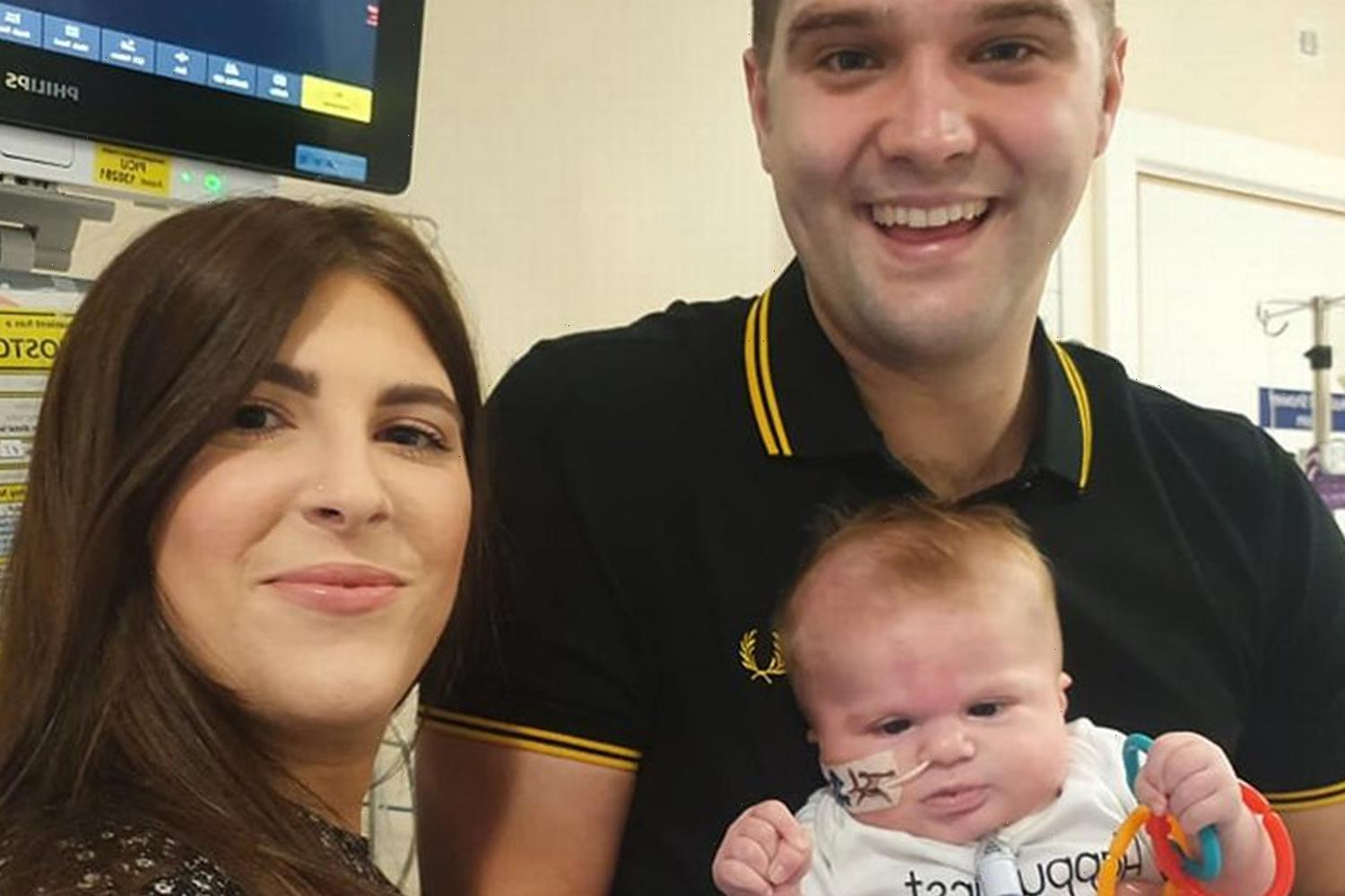Baby boy born with 'no immune system' forced to isolate in hospital for 4 months as common cold could be fatal
