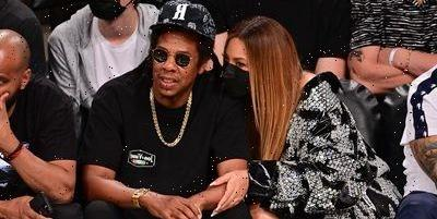 Beyoncé Stunned in a Corset Leather Mini Dress With Jay-Z During their NBA Date Night