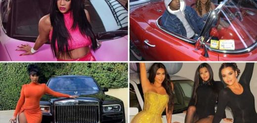 CELEBRITY CAR RICH LIST: From 'Beyoncé & Jay-Z's £20M Rolls-Royce Boat Tail' to 'Ronaldo's £17M supercar horde' and Bieber's 'Robocop' racecar