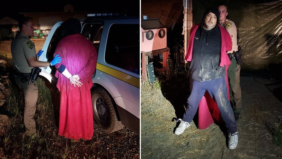 California man wearing red cape arrested after smoking meth, breaking into home, sheriff says