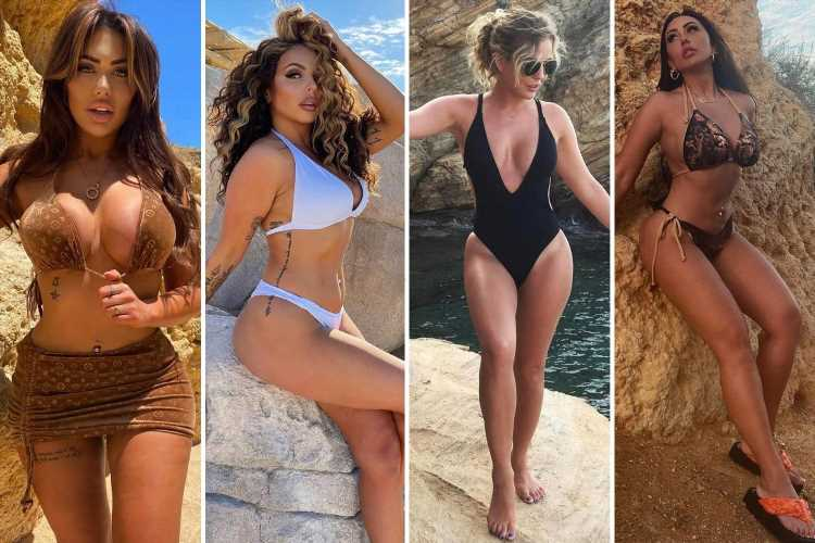 Celebs go wild for 'rock your body' bikini pose this heatwave with Jesy Nelson & Sophie Kasai posing up a storm