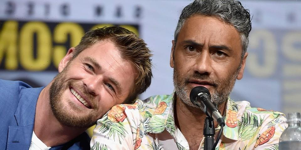 Chris Hemsworth Offers On-Set Look at Taika Waititi and Himself in 'Thor: Love and Thunder'