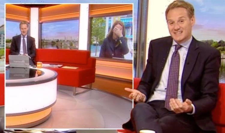 Dan Walker apologises to co-star as Breakfast host's sneeze derails report Poor timing