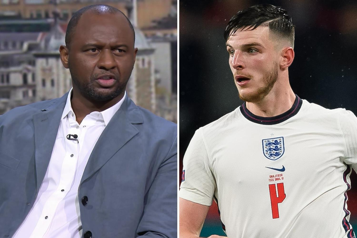 England lack 'creativity' with Kalvin Phillips & Declan Rice and must take more risks at Euro 2020, raps Patrick Vieira