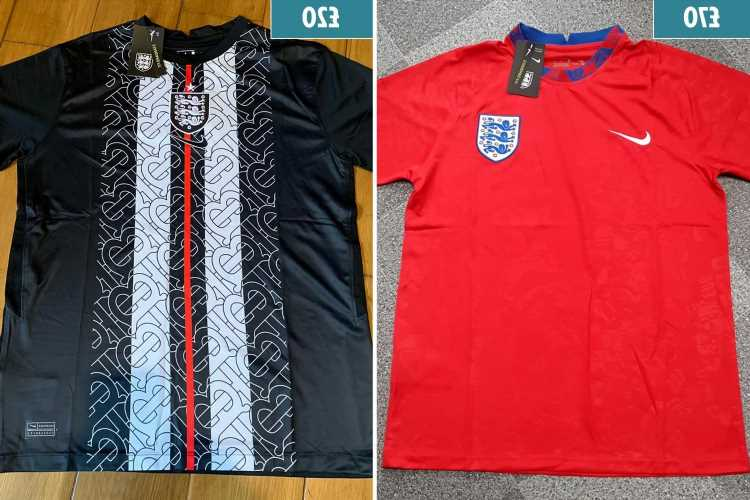 Fake £20 England shirts in huge demand and selling fast as fans buy cheaper alternative to £70 Nike jersey