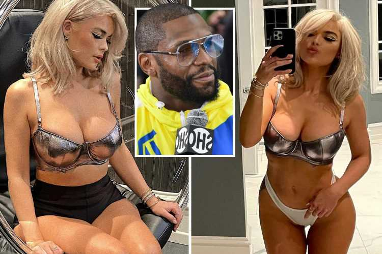 Floyd Mayweather's stripper fiancee Anna Monroe puts on busty display in lingerie to show boxing icon what he is missing