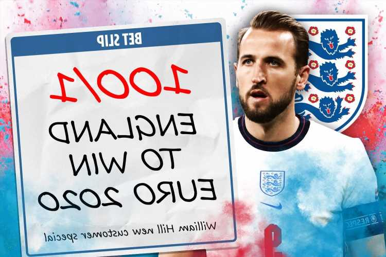 Get England to win Euro 2020 at huge 100/1 in William Hill price boost