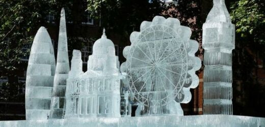 Giant ice sculpture unveiled in London