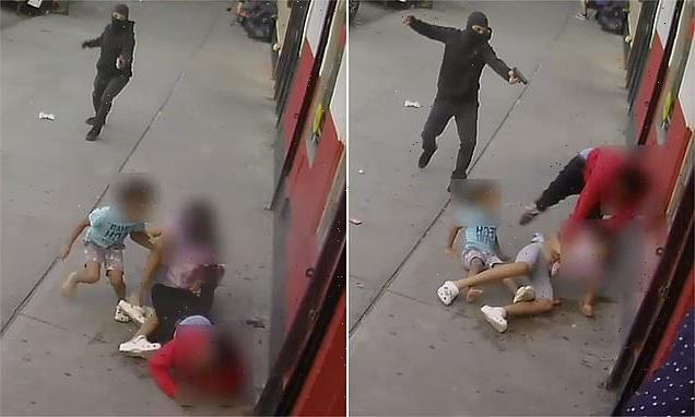 Gunman open fires at man and young kids in the middle of Bronx street