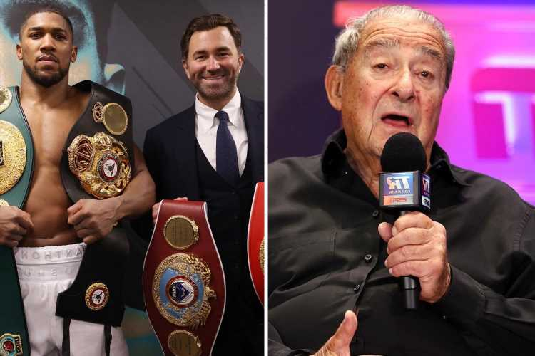 Hearn hits back at Arum over Anthony Joshua's failed fight with Tyson Fury and calls him 'greediest man I've ever met'