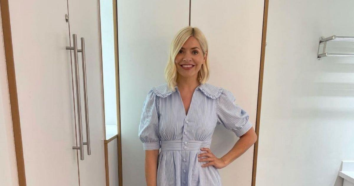 Holly Willoughby makes summery return to This Morning in glam striped Monsoon dress