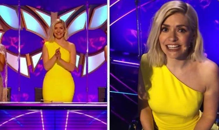 Holly Willoughby stuns in midi yellow dress during The Masked Dancer finale