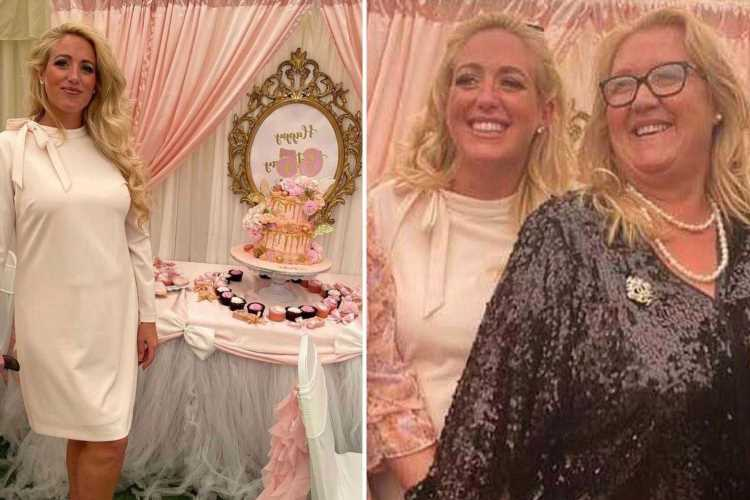 Inside Paris Fury's incredible pink and gold themed 65th birthday party for her lookalike mum as Tyson trains for fight