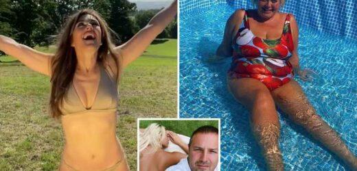 Inside celebrity gardens as stars soak up the sun in lockdown in heatwave – The Sun