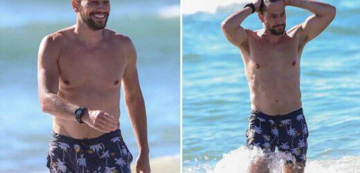 Ioan Gruffudd shows off buff breakup bod on the beach
