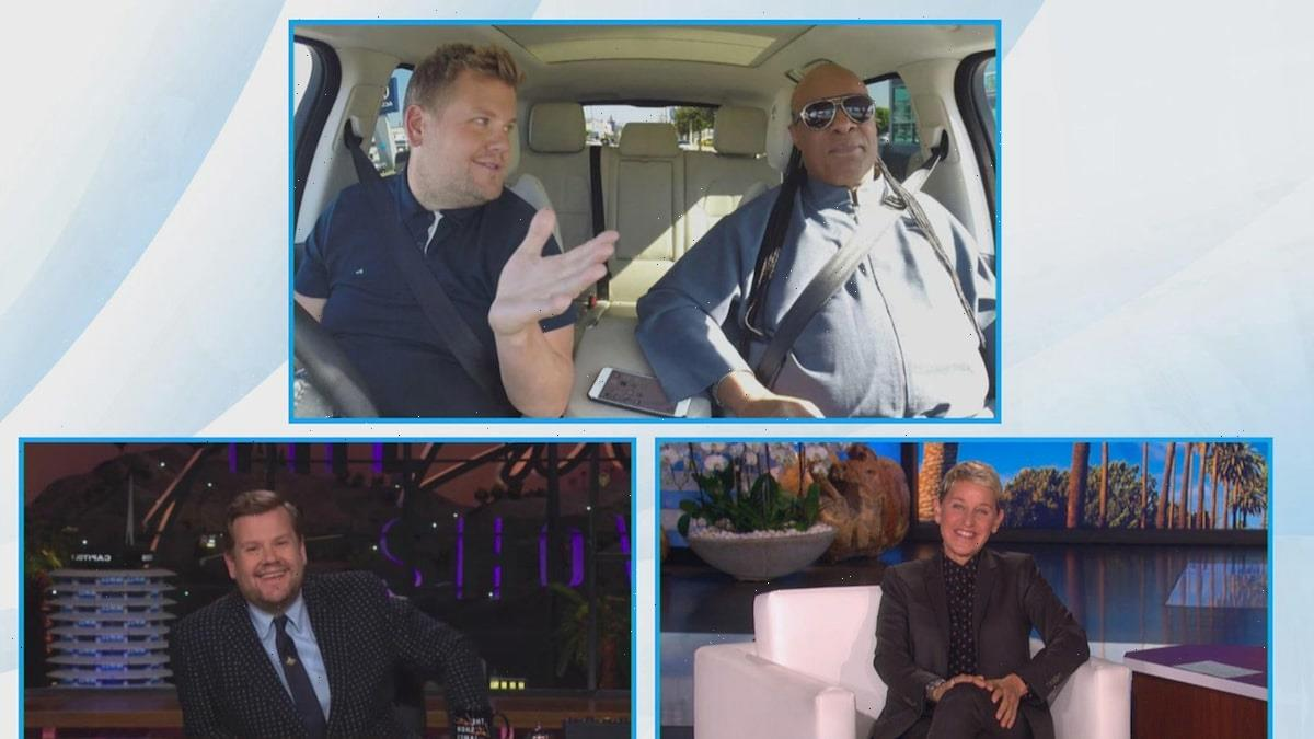 James Corden Reveals His Wife Was in a Bathroom When She Got a Call From Stevie Wonder