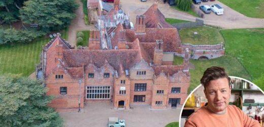 Jamie Oliver is planning lavish refurbishment to his SERVANT quarters at huge £6m 12 bed Essex mansion