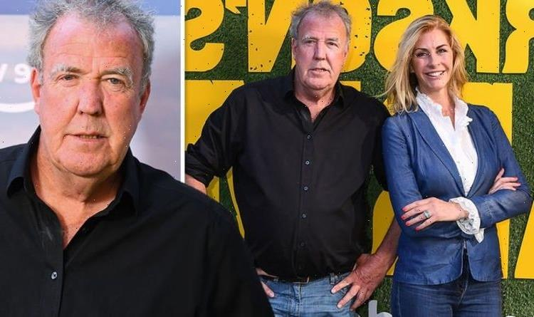 Jeremy Clarkson and girlfriend Lisa Hogan pack on the PDA after his farm show launch