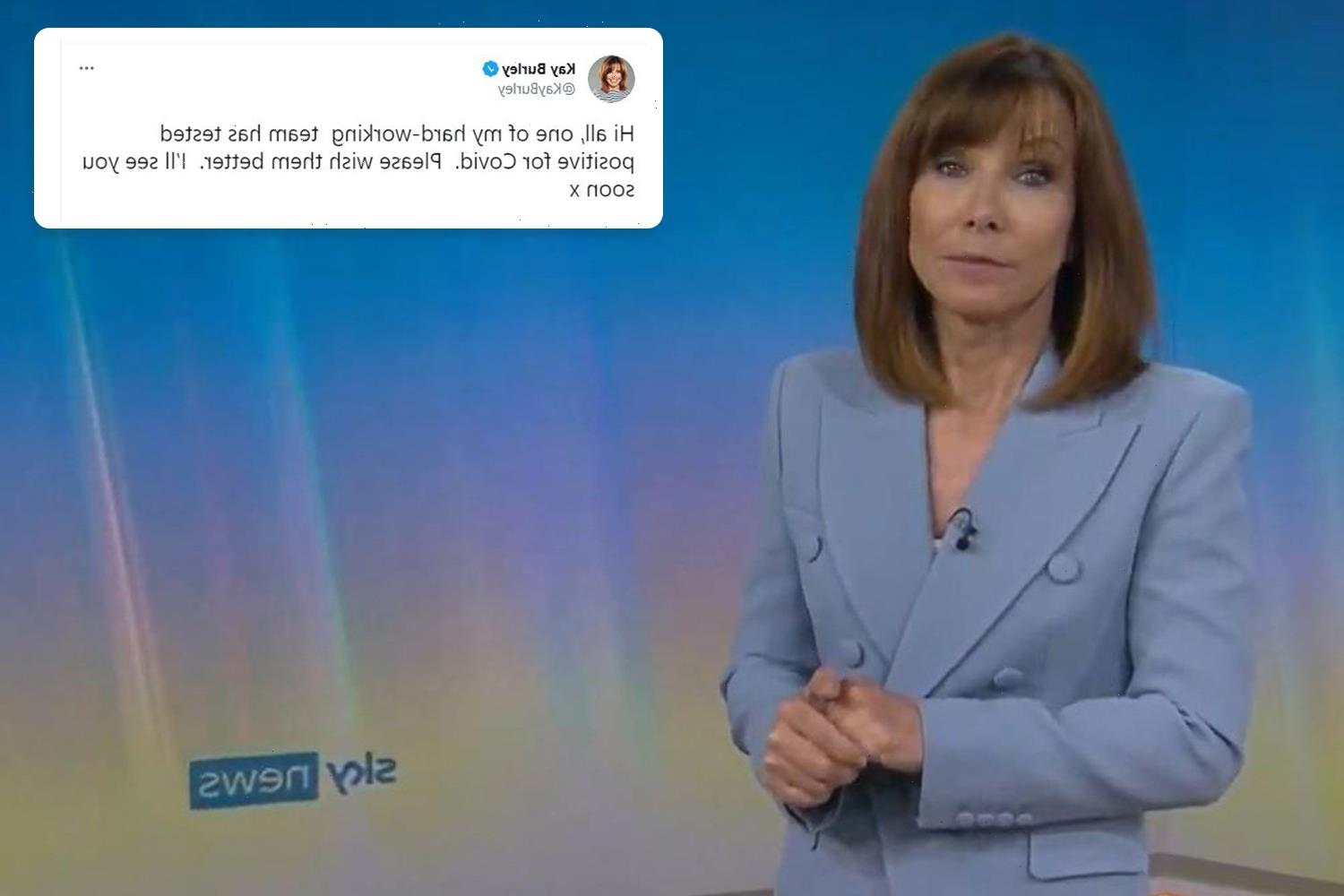 Kay Burley hints she'll be off air again just two days after return to Sky News after suspension for lockdown rule break