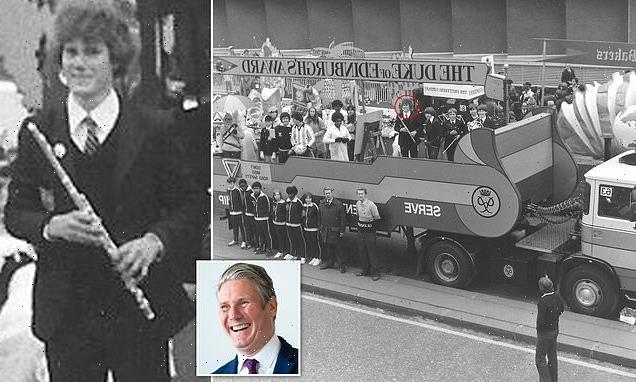 Keir Starmer is pictured aged 18 with his school orchestra