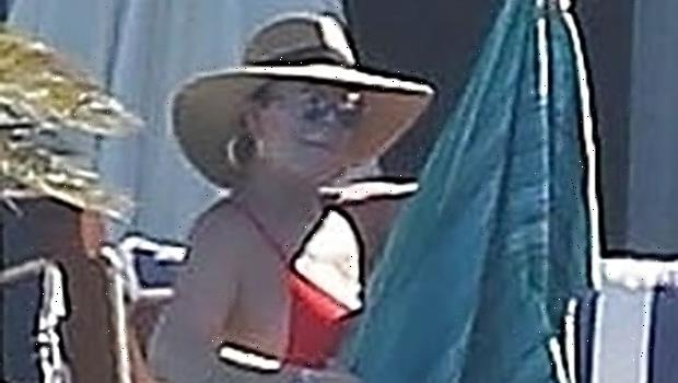 Kris Jenner, 65, Rocks A Red Bikini While Hanging Poolside With Corey Gamble In Mexico