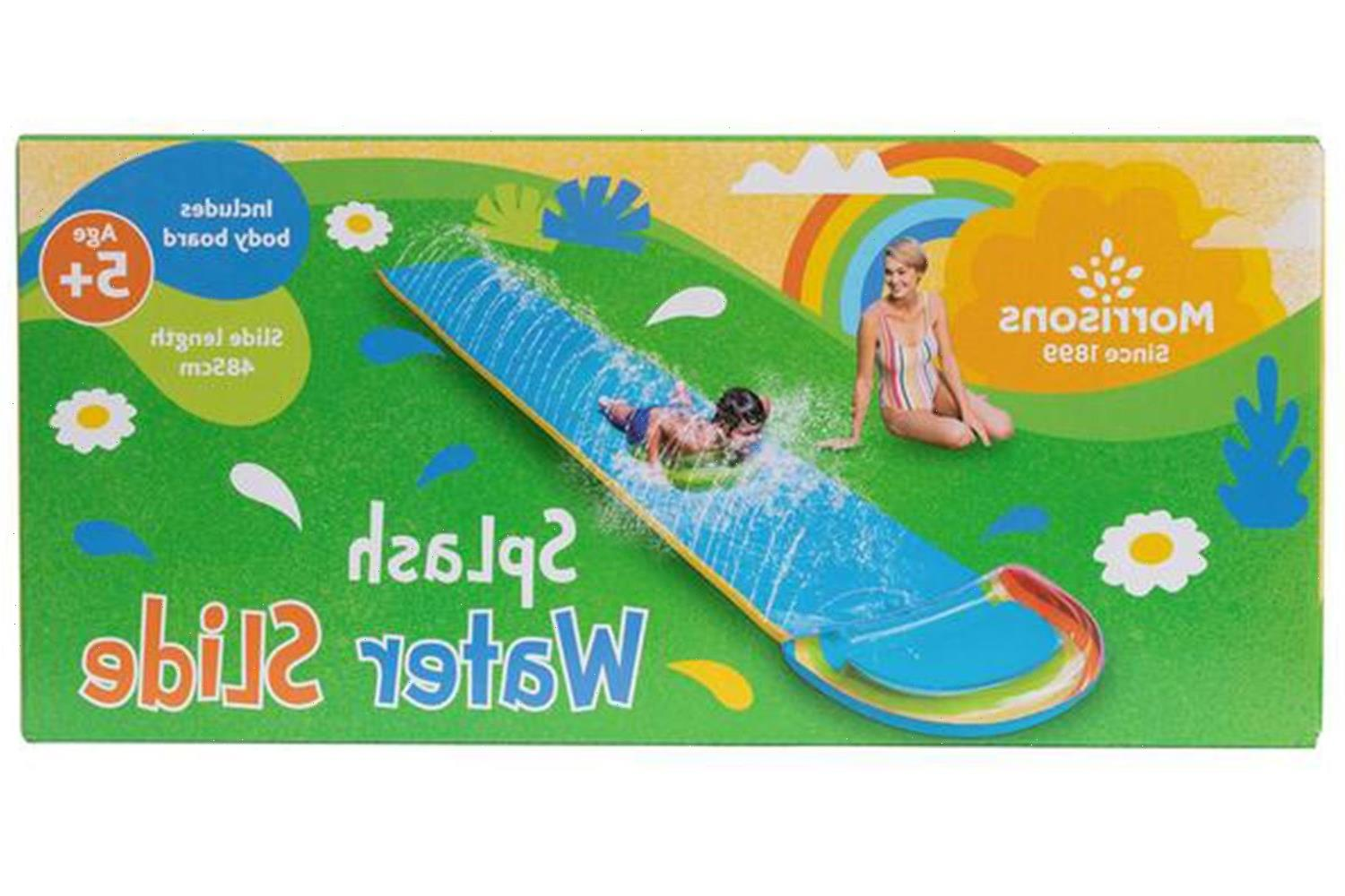 Morrisons is selling a water slide for £8 – up to £10 cheaper than rivals