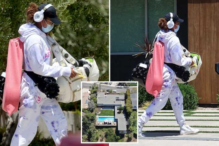 Naomi Osaka arrives back at her $7m LA mansion after bombshell exit from the French Open over press ban