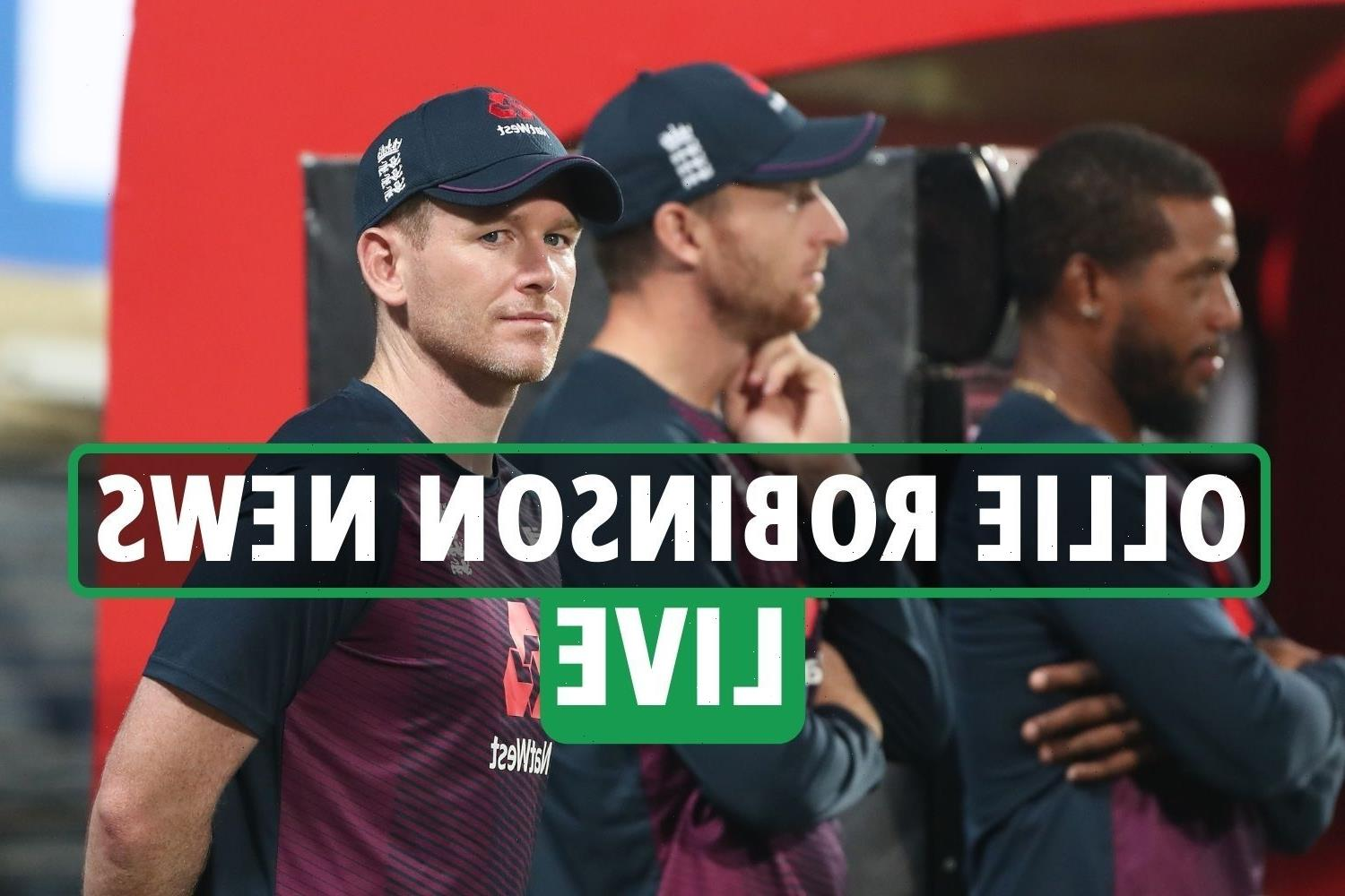 Ollie Robinson news LIVE: Eoin Morgan and Jos Buttler investigated as Jimmy Anderson explains 'lesbian haircut' tweet