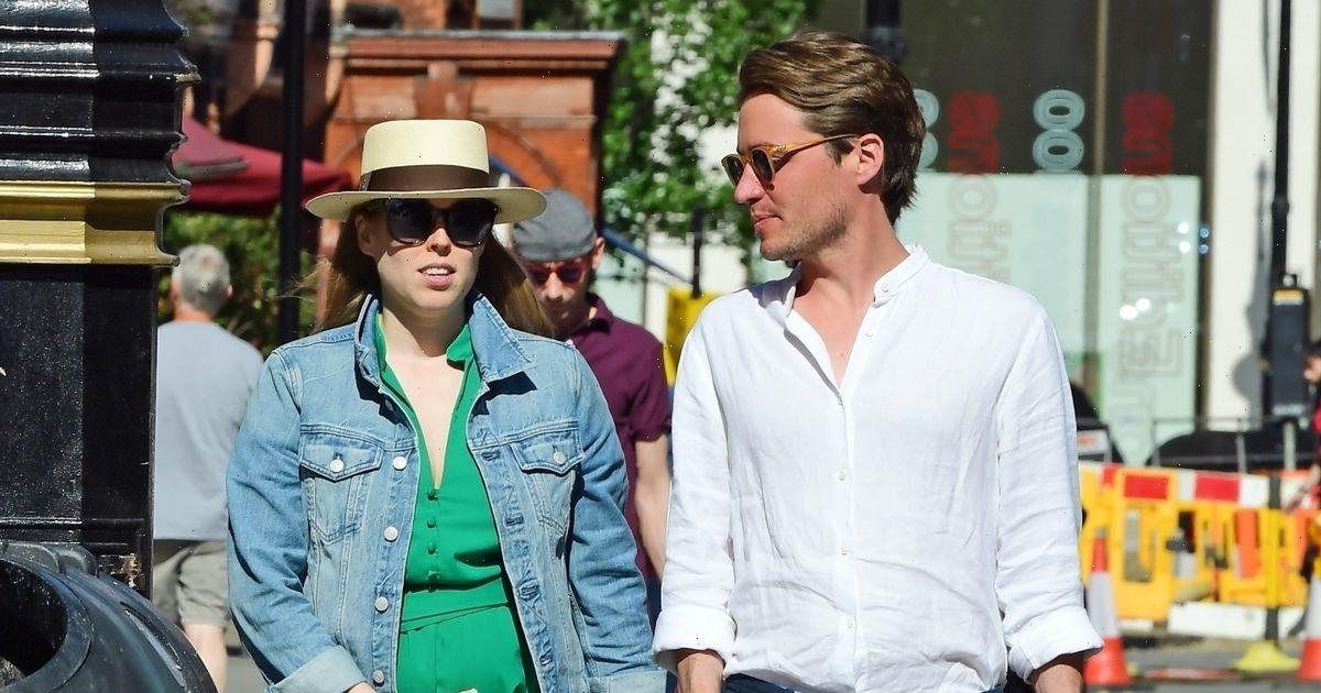 Pregnant Princess Beatrice lovingly cradles bump on shopping trip with husband Edoardo